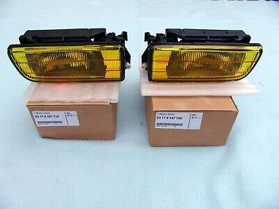 BMW E36 3-Series 92-98 Replacement Fog Lights Lamp Yellow Euro