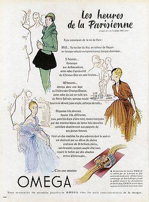 """Jewelry & Watches gruau """"montres Omega"""" Annonce Originale Entoilée Plaisir De France 1947 Other Watches"""