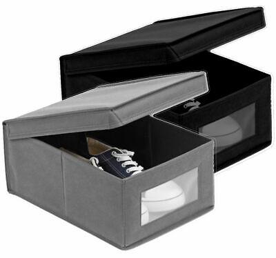 Aufbewahrungsbox Schuhe mit Sichtfenster Deckel Schachtel 25x15x35 | eBay