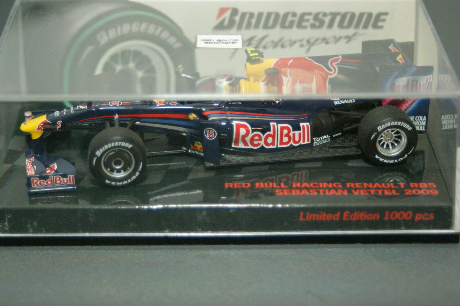 1 43 PMA Sebastian ma GROSSE rouge Bull Racing Renault rb5 Bridgestone Edition 2009