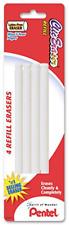 Pentel Refill Eraser For Clic Eraser Pack Of 4 Zerbp4 K6