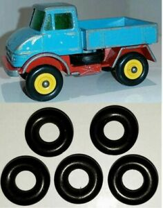 5 New Replacement Tyres To Suit Lesney Matchbox Mercedes Unimog 49 B Tires Ebay