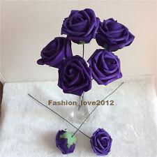 100 Cadburys Purple Wooden Roses Wedding Favours Flowers Wholesale