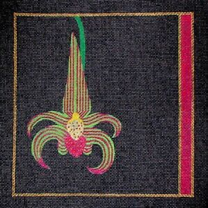 MZC-Colorful-Orchid-on-Black-HP-Hand-Painted-Needlepoint-Canvas
