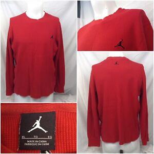 Nike-Air-Jordan-Jumpman-Thermal-Undershirt-XL-Red-Long-Sleeve-Crew-YGI-B8-594