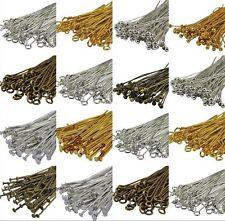 Lots100 pcs Silver Golden Head//Eye//Ball Pins Finding 21 Gauge any size U choose