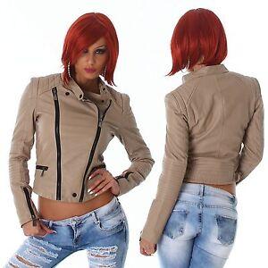 Giubbotto-giacca-donna-giubbino-chiodo-ecopelle-similpelle-zip-nuovo