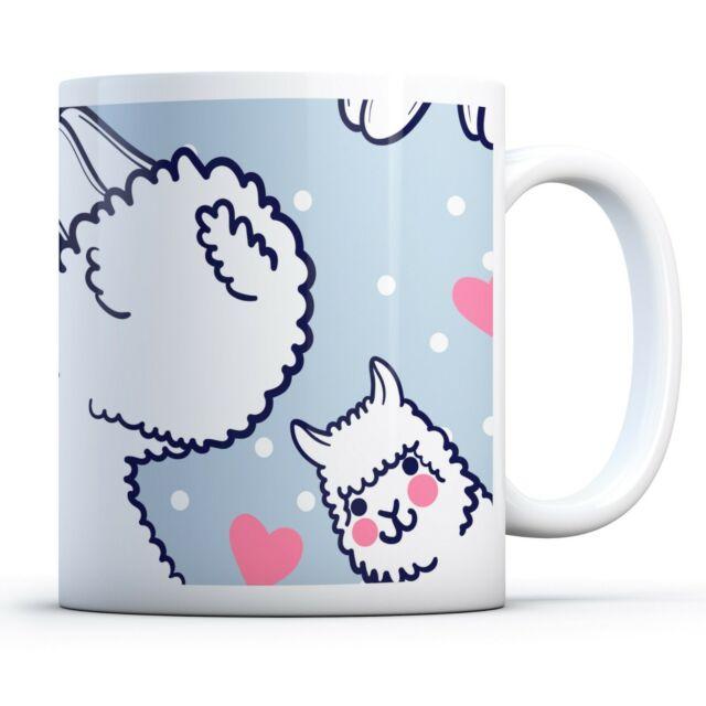 Llama Alpaca Heart - Drinks Mug Cup Kitchen Birthday Office Fun Gift #8189