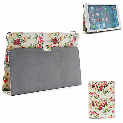 Pu Leather Flower Smart Cover Case for iPad 4 3 2 iPad mini 3 iPad Air iPad Pro