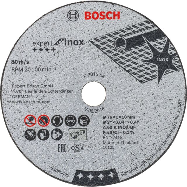 Bosch Professional Trennscheiben Expert for Inox, 76x1mm