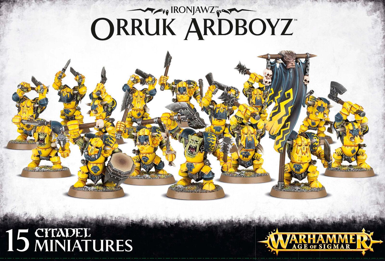 Ironjawz Orruk Ardboyz Ardboys Orcs Goblins Warhammer Fantasy Age of Sigmar NEW