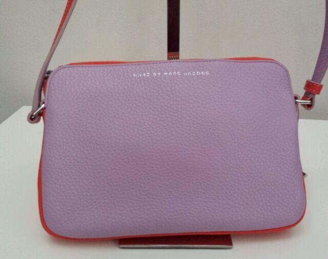 c10b68b5fec Marc Jacobs Sophisticato Dani Crossbody Pastel Purple Leather Tote Purse Bag