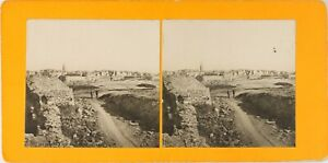 FRANCE-Saint-Malo-Vue-Generale-Photo-Stereo-Vintage-Argentique-PL62L10