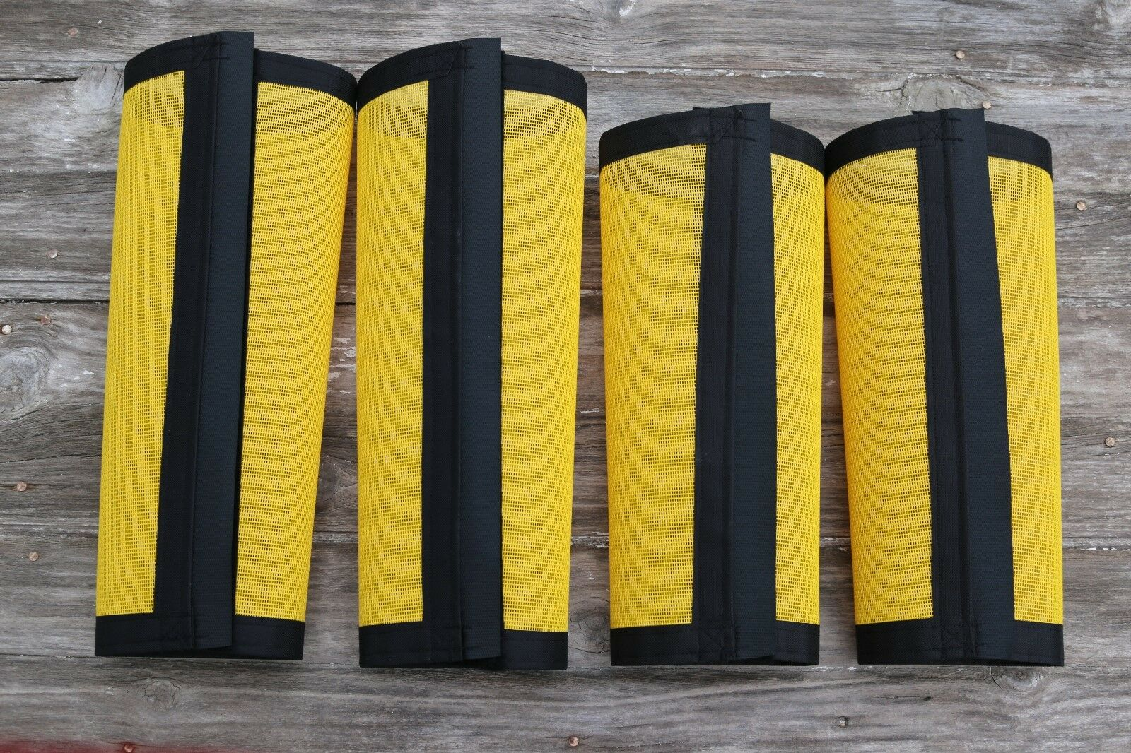 Fly Boots, Fly  Wraps   Leggings For Horses, Tapered Style Set Of 4, Yellow  buy cheap new