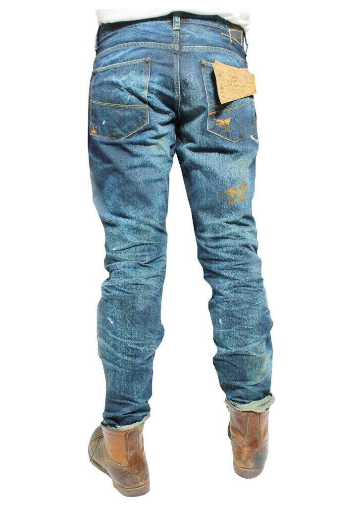 JEANS MAN GILDED AGE NEW YORK HERGESTELLT IN JAPAN JAPAN JAPAN MOD GA1008NA LIMITED EDITION 0f883c