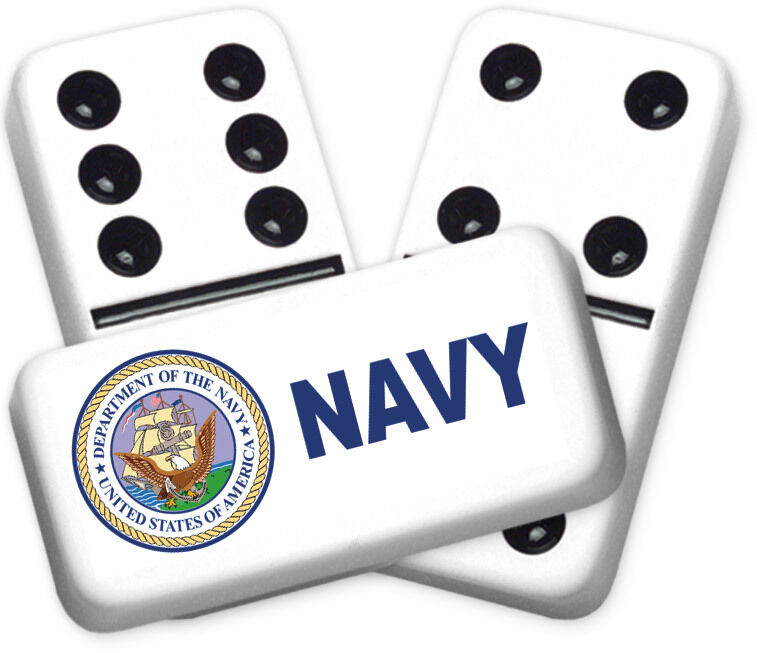 Career Series Navy Design Double six Professional Größe Dominoes