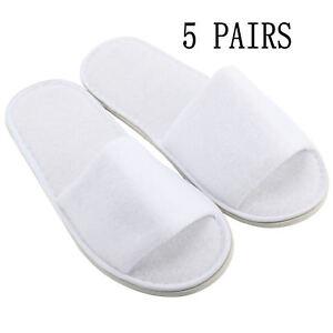 8e15b6c96522 5Pcs White Spa Guest Shoes Flip Flop Hotel Disposable OPEN TOE ...