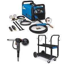 Miller Millermatic 211 Mig Welder Spoolgun Amp Cart 907614 300371 301239