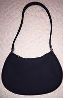 Small Nine West Black Satin Evening Bag/purse -black- Without Tags