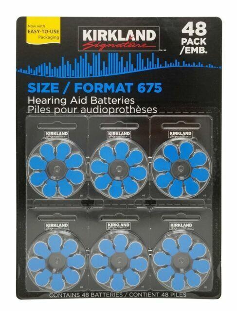 Kirkland Signature 48 Hearing Aid Batteries Premium Zinc Air Size 675 For Sale Online Ebay