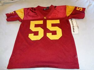 outlet store b2887 44b3c Details about Jr. Seau #55 USC Team Trojans NCAA Jersey size Large Youth  Boys THROWBACK Junior