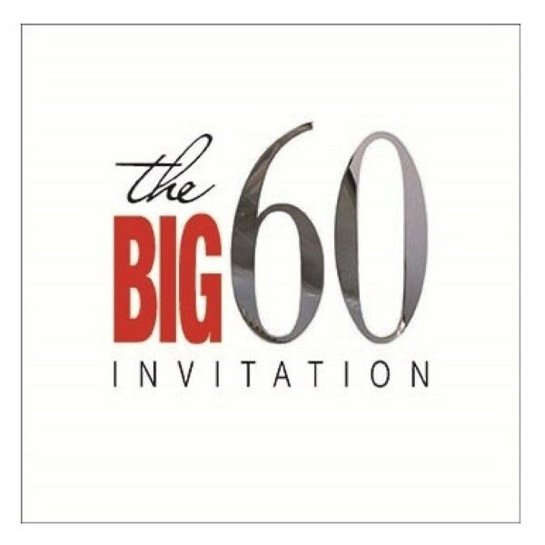 60th Birthday Party Invitation Cards Envelopes Pk 6 By Cameos For Sale Online