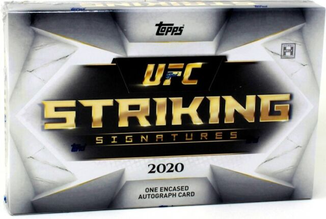 2020 TOPPS UFC STRIKING SIGNATURES HOBBY BOX BLOWOUT CARDS