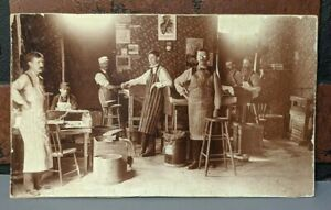 ANTIQUE-VINTAGE-EDWARDIAN-ERA-CIGAR-FACTORY-RARE-OCCUPATIONAL-PHOTO-TOBACCO