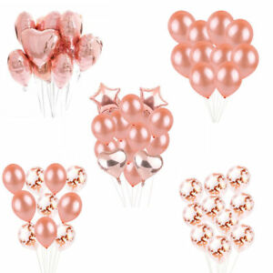 New-Foil-Party-Balloons-Set-Rose-Gold-Series-Hen-Party-Wedding-Birthday-Party-hi