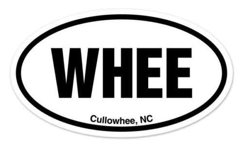 "WHEE Cullowhee NC North Carolina Oval car window bumper sticker decal 5/"" x 3/"""