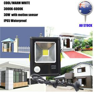 LED-Flood-light-30W-Cool-Warm-White-PIR-Motion-Sensor-AU-Plug-Floodlight-240V