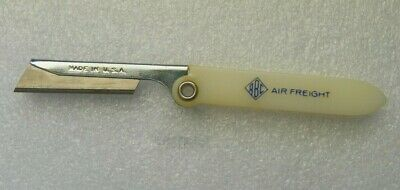 "Aviation Responsible Vintage Abc Air Freight Folding Pocket Box Cutter Razor 2-5/8"" Closed To Clear Out Annoyance And Quench Thirst Collectibles"