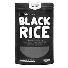 FORBIDDEN ORGANIC BLACK RICE NON-GLUTINOUS MEDIUM-GRAIN HEALTHY DIET 1.25KG