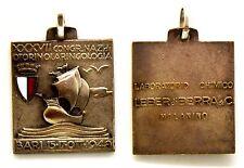 Medaglia Con Smalto XXXVII Congresso Nazionale Di Otorinolaringologia Bari 1948