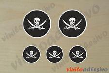 PEGATINA STICKER VINILO Bandera lente pirata pirates flag autocollant aufkleber