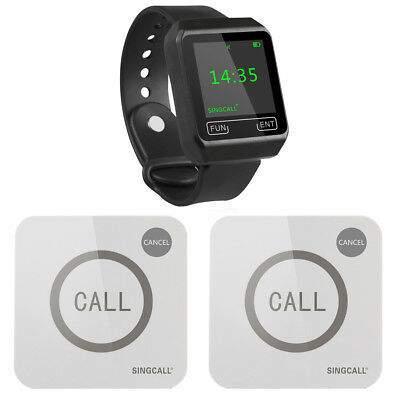 Wireless Restaurant Service System For 1 Watch And 2 Touchable Buttons Ebay