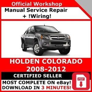 Factory Workshop Service Repair Manual Holden Colorado 2008 2012 Wiring Ebay