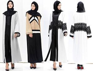 Image Is Loading Muslim Women Cardigan Burka Ic Open Front Kaftan