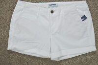 Old Navy Women's White Stretch Mid-rise Shorts Size 8 Regular 32 Inch Waist