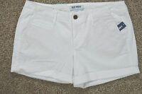Old Navy Women's White Stretch Mid-rise Shorts Size 8 Regular 32 Inch Waist