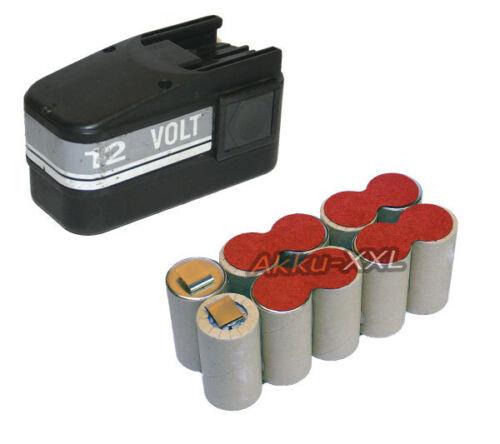 Batterie pour AEG Atlas Copco 12v 3.6ah b12 mxs12 NiMH Neuf Batterie de rechange