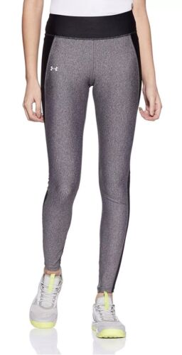 NWT Women's Under Armour XLarge Fly-By Yoga Pants Leggings Black Gray MSRP $55