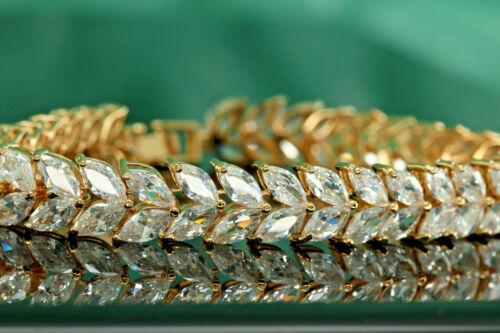 4ct ROUND BRILLIANT CUT DIAMOND TENNIS BRACELET 14K Yellow GOLD Enhanced