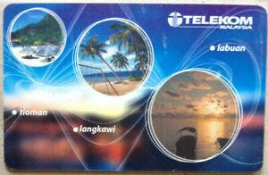 Malaysia-Used-Phone-Card-Islands-of-Travel-amp-Trade