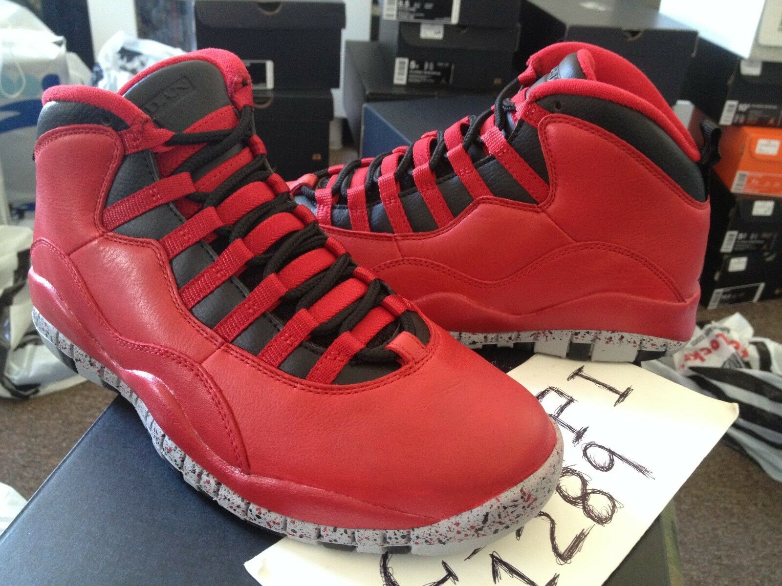 Nike air jordan retrò x 10 tori su broadway palestra red lupo nero 705178-601
