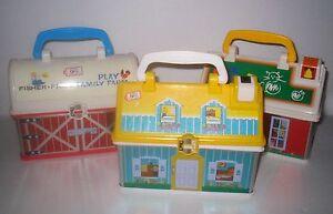 Fisher Price Little People Take Along LunchBox HOUSE \ FARM \ SCHOOL