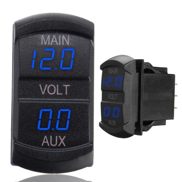10-60V Main LED Digital Dual Voltmeter Voltage Gauge Battery Monitor Panel Blue