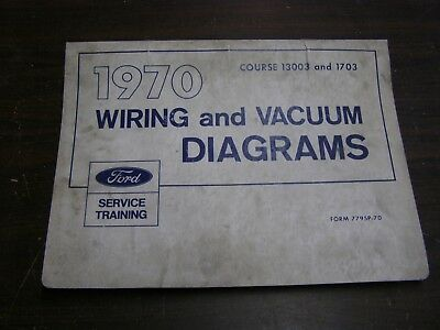 oem ford 1970 wiring diagram book galaxie mustang cougar. Black Bedroom Furniture Sets. Home Design Ideas