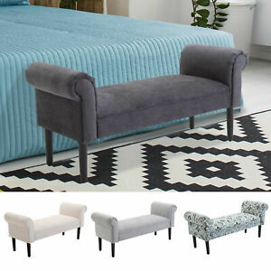 52 Quot Modern Rolled Arm Bench Bed End Ottoman Sofa Seat