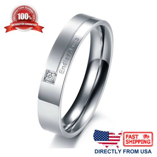 Endless Love Couple Matching Promesse Bague son Comfort Fit Wedding Band